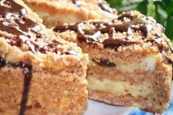 Пирог с творогом и черносливом, который я научилась готовить, когда была в гостях за границей!