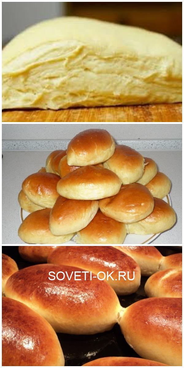 Тесто мягкое, к рукам не прилипает, хорошо лепится и пирожки не разваливаются.