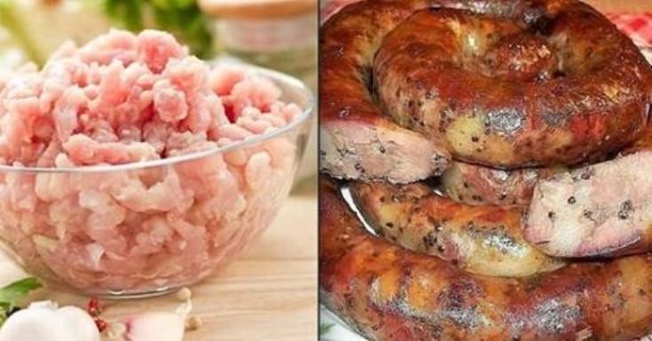 Очень вкусная куриная колбаска «Деревенская» — быстрый и простой рецепт.