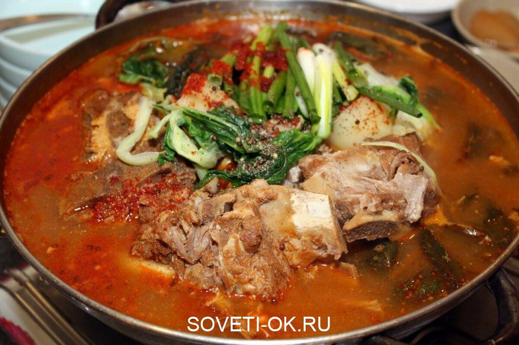 Острый кавказский суп