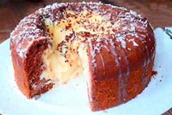 Чудо-пирог «Вулкан» с нежным кремом