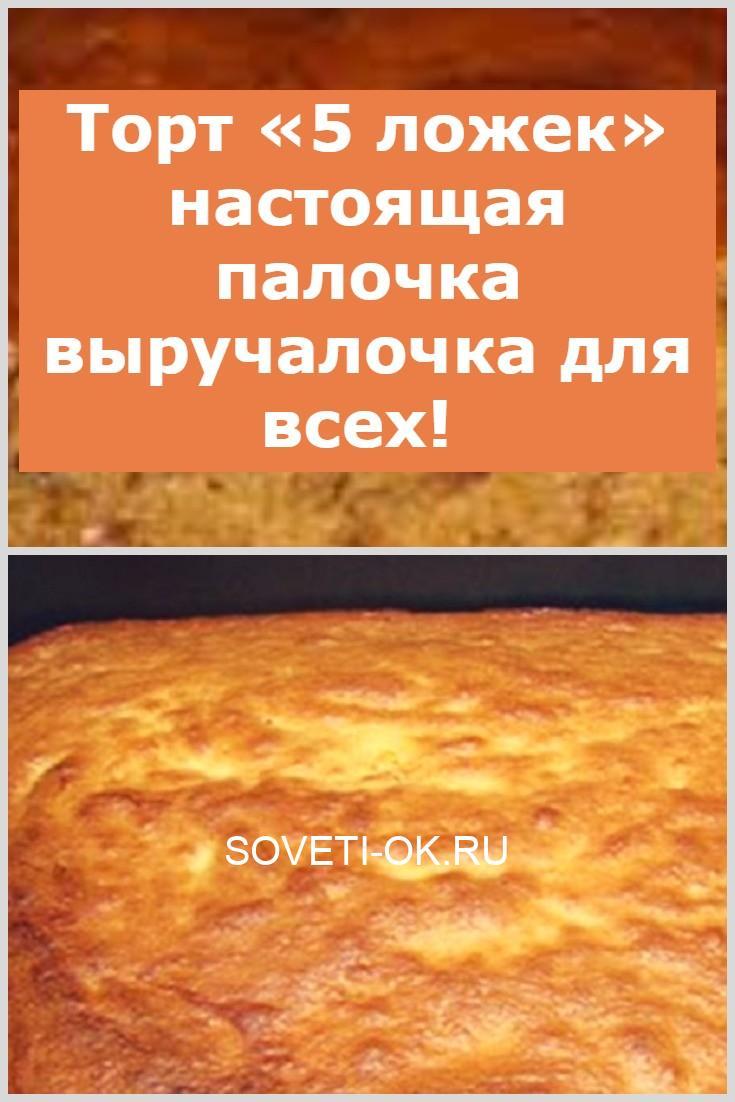 Торт «5 ложек» настоящая палочка выручалочка для всех!