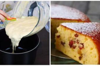 Вкусный и нежный пирог на сметане быстрого приготовления
