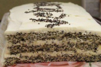 Нежный маковый торт