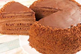 Шоколадный торт на сковороде. Даже теста руками не касаемся 1